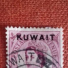 Sellos: KUWAIT 1952. SG100. SELLO BRITÁNICO SOBRECARGADO. ISABEL II. USADO.. Lote 131942638