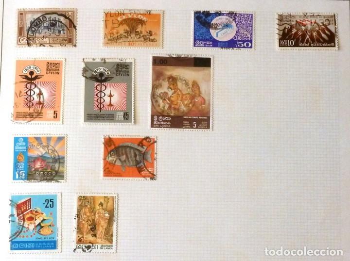 SELLOS CEYLAN LOTE 256 - FOTO 482 - 11 SELLOS USADOS (Sellos - Extranjero - Asia - Otros paises)