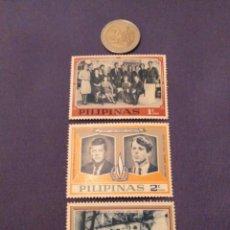 Sellos: FILIPINAS 1968. SERIE COMPLETA FAMILIA KENNEDY. Lote 136076226
