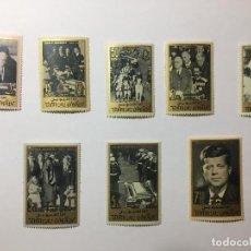 Sellos: LOTE 1 DE SELLOS - JOHN F. KENNEDY 1965 COMPLETO - UMM AL QIWAIN - EMIRATOS ARABES UNIDOS. Lote 136242382