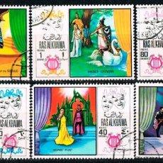 Sellos: EMIRATOS ARABES UNIDOS, RAS AL KHAIMA 297/302, ESCENAS DE OPERAS FAMOSAS, USADO MUSICA. Lote 146377562