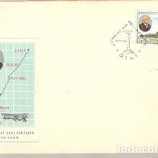 Sellos: TIMOR & PORTUGAL ULTRAMAR, FDC CENTENÁRIO DE CARLOS VIEGAS GAGO COUTINHO, DILI 1869-1969 (7775). Lote 148077358