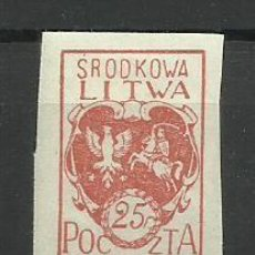 Timbres: LITUANIA -1920 SELLO NUEVO CON FIJASELLO(SIN DENTAR). Lote 153823322