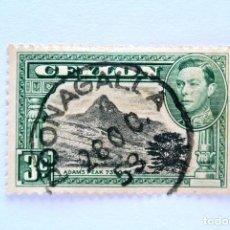 Sellos: SELLO POSTAL CEILAN - CEYLON 1938, 3 C ,ADAM'S PEAK, USADO. Lote 154609762