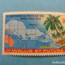 Sellos: WALLIS ET FUTUNA 1962 CONFERENCIA EN EL PACIFICO SUR YVERT 161 ** MNH. Lote 155871634