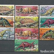 Sellos: FUJEIRA,1968,ANIMALES PREHISTÓRICOS,YVERT 78A-78J,USADOS. Lote 156194358