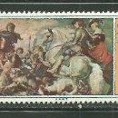 Sellos: ARABIA - QUAITI 1967 AEREO IVERT 15 *** PINTURA - CAZA DEL LOBO DE RUBENS. Lote 159740838