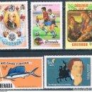 Sellos: GRENADA 1973 / 75 - YVERT 482 + 523 + 541 + 549 + 591 ( ** ). Lote 159789142