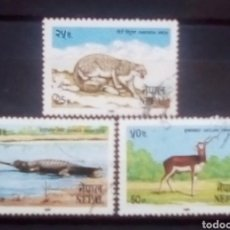 Sellos: NEPAL FAUNA SERIE DE SELLOS USADOS. Lote 171524670