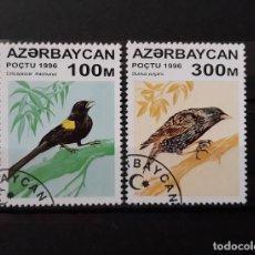 Sellos: AZERBAIYÁN 1996 USADO PÁJAROS YT 277, 280 MI 314, 317. Lote 172220090