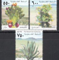 Selos: PALESTINA, 2003 YVERT Nº 175 / 177 /**/, PLANTAS, CACTUS Y CRASAS.. Lote 173593307