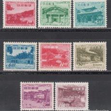 Sellos: RYU-KYU 1952 YVERT Nº 20 / 27 /**/, ARQUITECTURA, TEMPLOS . Lote 173822593