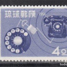 Sellos: RYU-KYU 1956 YVERT Nº 40 /**/, INAUGURACIÓN DEL TELÉFONO AUTOMÁTICO . Lote 173822709