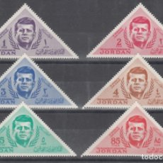 Sellos: JORDANIA, 1964 YVERT Nº 426 / 431 /*/ PRESIDENTE. JOHN F. KENNEDY. Lote 175283005