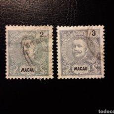 Sellos: MACAO. YVERT 129 Y 130 SELLOS SUELTOS USADOS. CARLOS I.. Lote 176954890