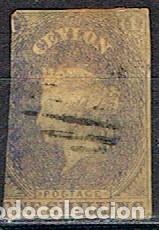 CEILAN Nº 4, LA REINA VICTORIA, USADO (AÑO 1857) VALOR CATALOGO MÁS DE 250 EUROS (Sellos - Extranjero - Asia - Otros paises)