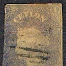 Sellos: CEILAN Nº 4, LA REINA VICTORIA, USADO (AÑO 1857) VALOR CATALOGO MÁS DE 250 EUROS. Lote 177649869