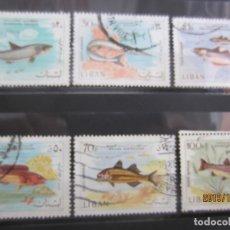 Sellos: LIBANO 1968 - 6 V. USADO. Lote 179103116