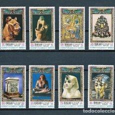 Sellos: SHARJAH,1968,ARTE EGIPCIO,MICHEL 456-463,USADOS. Lote 179314553