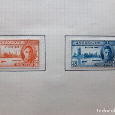 Sellos: 1946 ASCENSION HOJA DE ALBUM CON 2 SELLOS. Lote 179345331