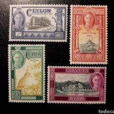 Sellos: CEILÁN. YVERT 268/71 SERIE COMPLETA NUEVA CON CHARNELA. NUEVA CONSTITUCIÓN. REY JORGE VI. Lote 180433790