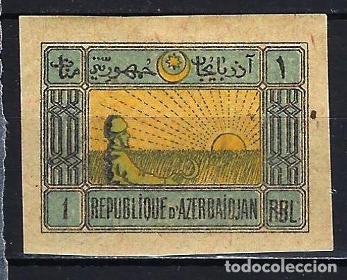 1919 AZERBAIYÁN MICHEL 5 - MH* NUEVO CON FIJASELLOS (Sellos - Extranjero - Asia - Otros paises)