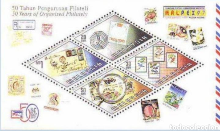MALASIA MALAYSIA 1997 EXPOSICIÓN FILATÉLICA INTERNACIONAL MALPEX 97 KUALA LUMPUR (Sellos - Extranjero - Asia - Otros paises)