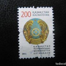Sellos: KAZAJISTAN, 2011, SELLO USADO. Lote 187197898