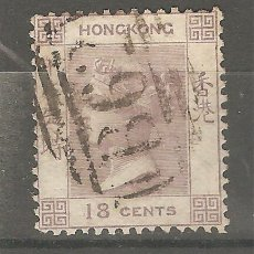 Sellos: HONG KONG,1862, CAT.YT. HK 4, USADOS,SIN GOMA ORIGINAL,FIJASELLOS.. Lote 187228791