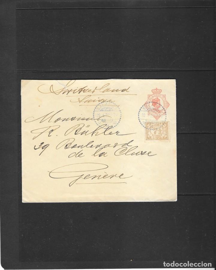 INDIA HOLANDESA -SOBRE ENTERO POSTAL CIRCULADO EN 1920 DE SALATIGA A SUIZA (Sellos - Extranjero - Asia - Otros paises)