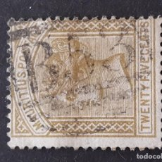 Sellos: MAURICIO, 1879, YVERT 61, LEVE ADELGAZAMIENTO. Lote 191269897