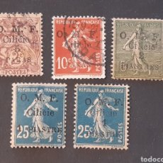 Sellos: CILICIE, YVERT 80, 82,83, 84, 92. Lote 194182255