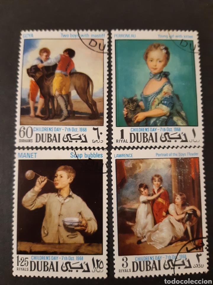 DUBAI, ARABIA DEL SUDESTE, YVERT 100 ARTE (Sellos - Extranjero - Asia - Otros paises)