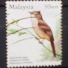 Sellos: MALASIA AVES SELLO USADO. Lote 198101801