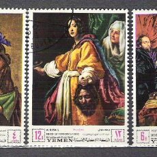 Sellos: YEMEN 1968 PAINTINGS, USED A.113. Lote 198280727