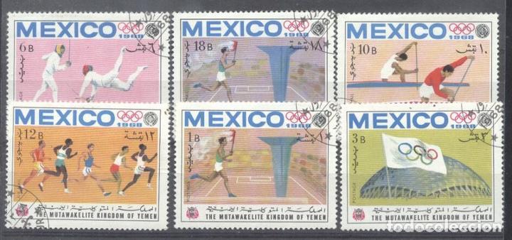 YEMEN 1968 SPORT, OLYMPICS, USED AM.032 (Sellos - Extranjero - Asia - Otros paises)
