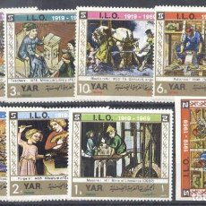 Sellos: YEMEN 1969 INTERNATIONAL LABOUR ORGANIZATION, PERF.SET+1 IMPERF. MNH AL.011. Lote 198280747