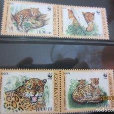 Sellos: AZERBAYAN 2005 4 V. WWF NUEVO. Lote 198306808
