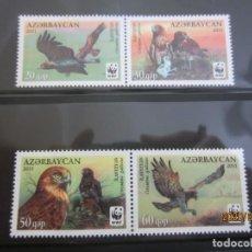 Sellos: AZERBAYAN 2011 4 V. WWF NUEVO. Lote 198307181