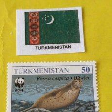 Sellos: TURKMENISTAN - 1 SELLO CIRCULADO. Lote 201964587