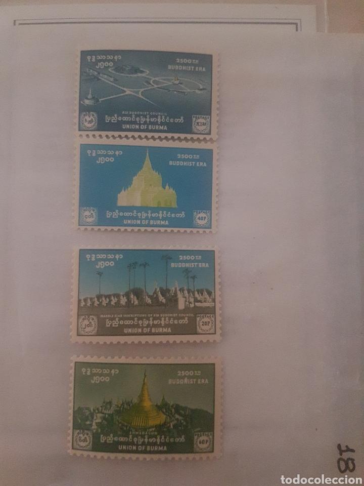 Sellos: Sellos birmania 1956 nacimiento de Buda - Foto 2 - 202732463