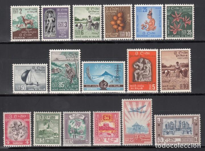 CEYLON, SRI LANKA, 1958-59 YVERT Nº 315 / 328 /*/ (Sellos - Extranjero - Asia - Otros paises)
