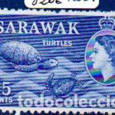 Sellos: SARAWAK.- MALASIA. AÑO 1955, 15 CÉNTIMOS EN NUEVO. Lote 204521413