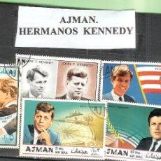 Sellos: LOTE DE SELLOS DE AJMAN. HERMANOS KENNEDY. Lote 205335067