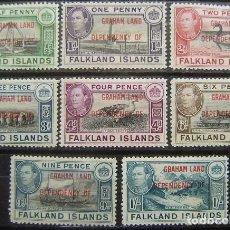 Sellos: ISLAS FALKLAND - COLONIA BRITANICA - DEPENDENCIA GRAHAN LAND - IVERT 9/16 - NUEVOS SIN GOMA -. Lote 205679598