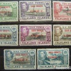 Sellos: ISLAS FALKLAND - COLONIA BRITANICA - DEPENDENCIA SOUTH ORKNEYS - IVERT 17/24 - NUEVOS SIN GOMA -. Lote 205679791