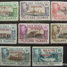 Sellos: ISLAS FALKLAND - COLONIA BRITANICA - DEPENDENCIA SOUTH SHETLANDS - IVERT 25/32 - NUEVOS SIN GOMA -. Lote 205679900