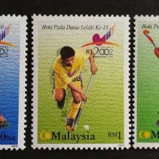 Sellos: MALASIA, 10° COPA DEL MUNDO DE KUALA 2002 MNH (FOTOGRAFÍA REAL). Lote 205850071