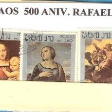 Sellos: LOTE DE SELLOS DE LAOS. 500º ANIVERSARIO RAFAEL. Lote 206361772