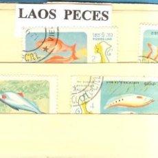 Sellos: LOTE DE SELLOS DE LAOS. PECES. Lote 206362146